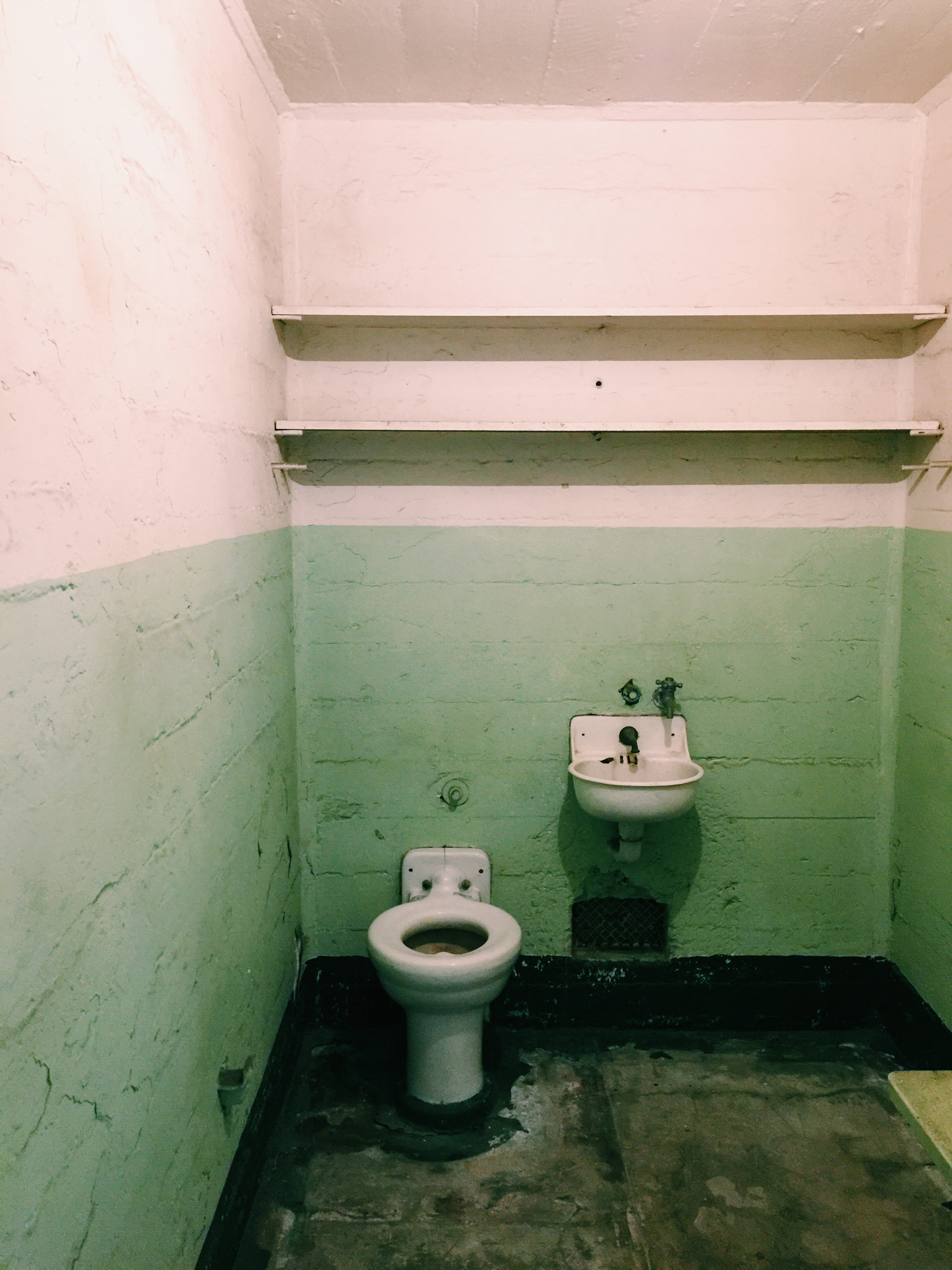 A typical inmate cell