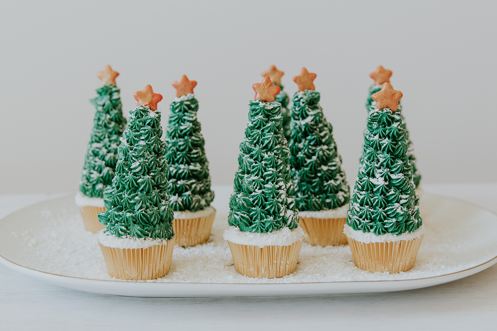 Christmas Tree Cupcakes - The Weir House